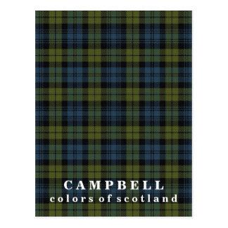 Colors of Scotland Campbell Tartan Postcard