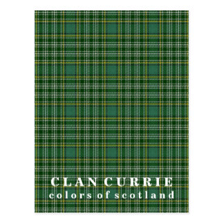 Colors of Scotland Clan Currie Tartan Postcard