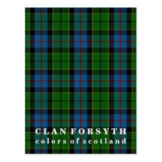 Colors of Scotland Clan Forsyth Tartan Postcard