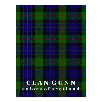 Colors of Scotland Clan Gunn Tartan Postcard