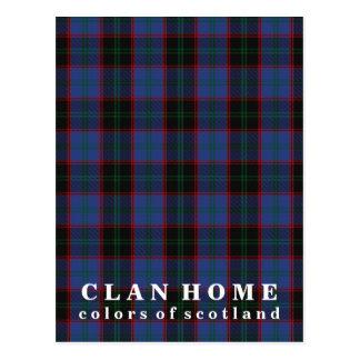 Colors of Scotland Clan Home Tartan Postcard