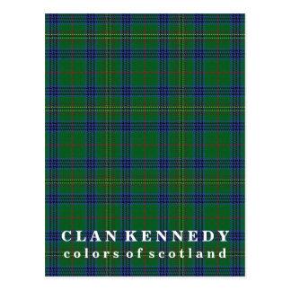 Colors of Scotland Clan Kennedy Tartan Postcard