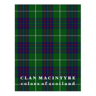 Colors of Scotland Clan MacIntyre Tartan Postcard