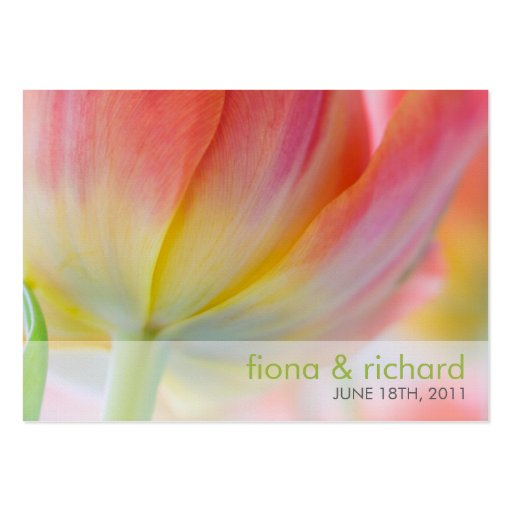 Colors of Spring • Wedding Favour Tag Business Card