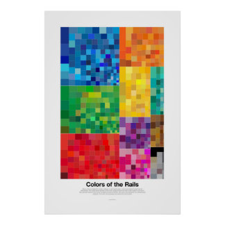 Colors of the Rails (light) Poster
