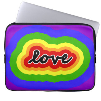 Colors of the Rainbow Love Laptop Sleeve