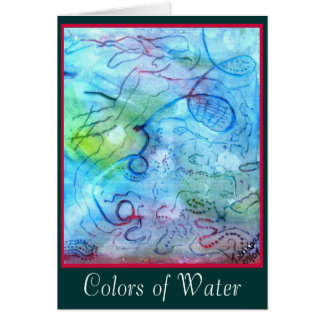 Colors of Water card