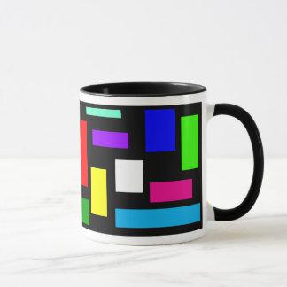 Colors on Black Background Coffee Mug
