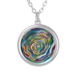 Colors Wheel Silver Plated Necklace