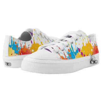 ColorSplat Multi-Color Low Tops