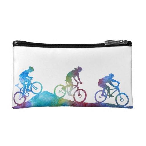 Colorwash Mountain Bikers Makeup Bags