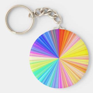 ColorWheel Sparkle - Enjoy n Share Joy Basic Round Button Key Ring