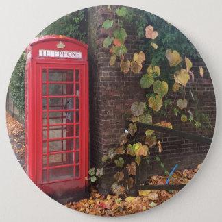 "Colossal, 15.2 cm (6"") Round Badge. Telephone Box. 6 Cm Round Badge"