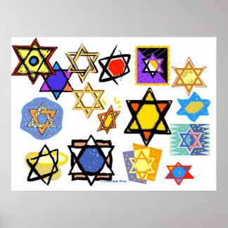 COLOSSAL POSTER - JEWISH STARS - CHANUKAH