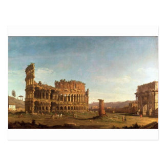 Colosseum and Arch of Constantine (Rome) Postcard