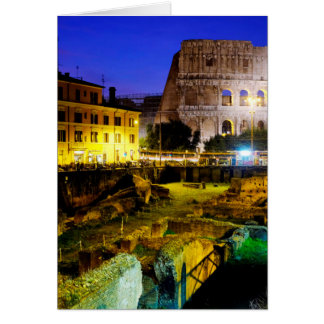 Colosseum and the ludus magnus greeting card