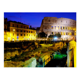 Colosseum and the ludus magnus postcard
