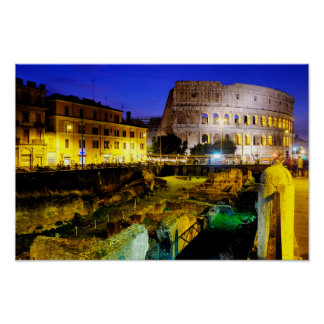 Colosseum and the ludus magnus poster