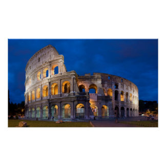 Colosseum at Dusk Poster