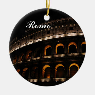 Colosseum at night ornament