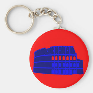 Colosseum Basic Round Button Key Ring