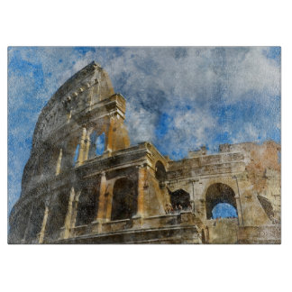 Colosseum in Ancient Rome Italy Cutting Board