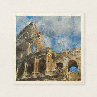 Colosseum in Ancient Rome Italy Disposable Napkins