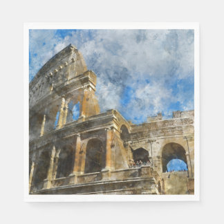 Colosseum in Ancient Rome Italy Disposable Serviette
