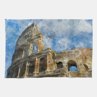 Colosseum in Ancient Rome Italy Tea Towel