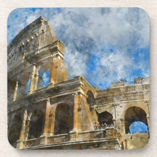 Colosseum in Rome, Italy_ Beverage Coaster