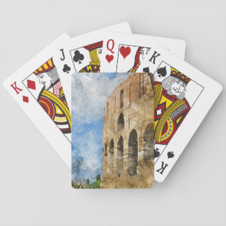Colosseum in Rome, Italy Playing Cards