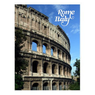 Colosseum in Rome Italy Postcard