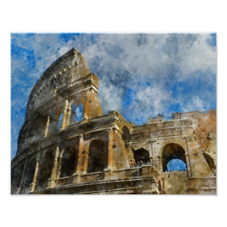 Colosseum in Rome, Italy_ Poster