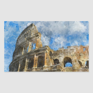 Colosseum in Rome, Italy_ Rectangular Sticker