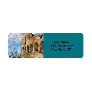 Colosseum in Rome, Italy Return Address Label