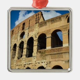 Colosseum in Rome, Italy Silver-Colored Square Decoration