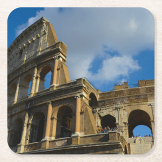 Colosseum in Rome, Italy Square Paper Coaster