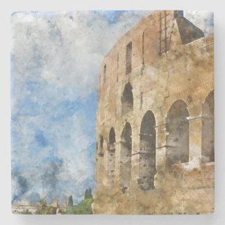 Colosseum in Rome, Italy Stone Coaster