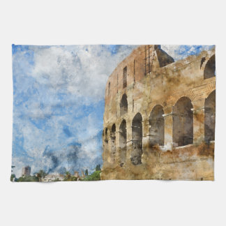 Colosseum in Rome, Italy Tea Towel