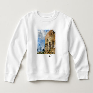 Colosseum in Rome Italy Watercolor Sweatshirt
