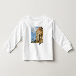 Colosseum in Rome Italy Watercolor Toddler T-Shirt