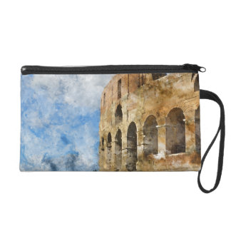 Colosseum in Rome, Italy Wristlet Clutch