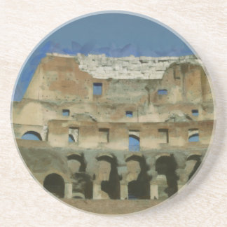 Colosseum painting, Rome Coasters