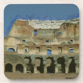 Colosseum painting, Rome Drink Coaster