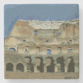 Colosseum painting, Rome Stone Coaster