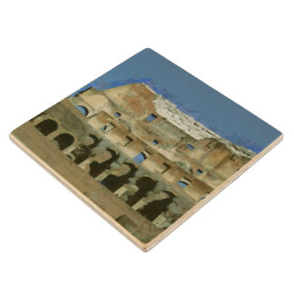Colosseum painting, Rome Wood Coaster