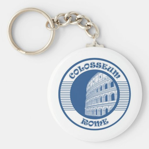 COLOSSEUM ROME BLUE KEY CHAIN