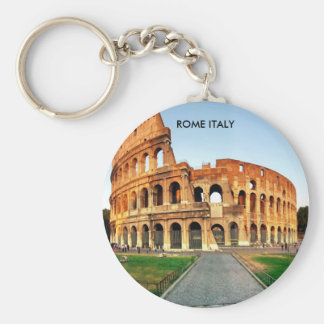 COLOSSEUM, ROME ITALY BASIC ROUND BUTTON KEY RING