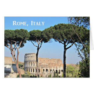 Colosseum, Rome, Italy Card