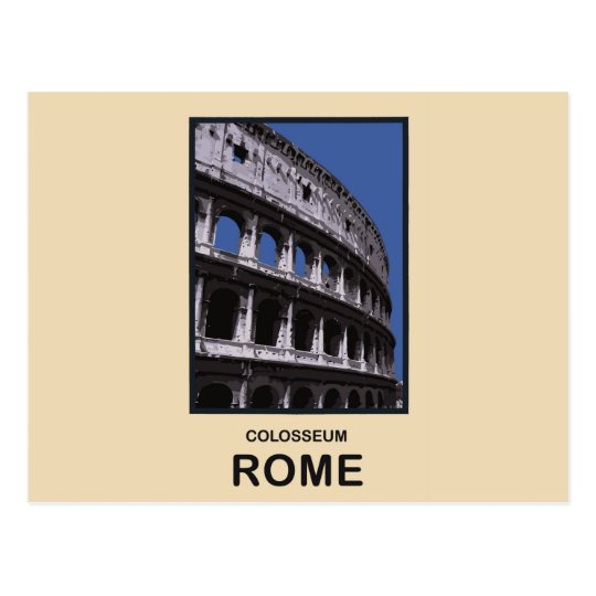 Colosseum Rome Italy Postcard